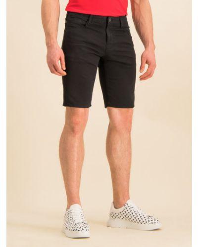 Szorty jeansowe - czarne Emporio Armani