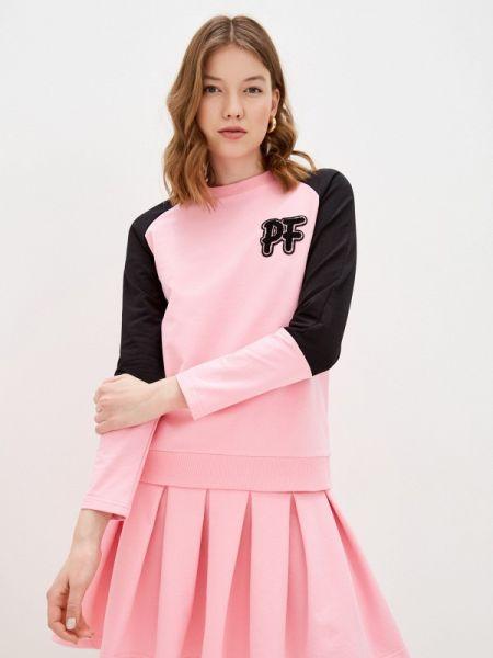 Костюмный розовый вязаный юбочный костюм Pink Frost