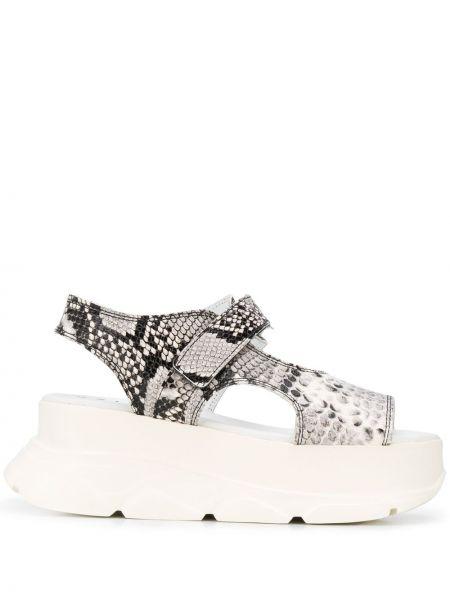 Czarne sandały na platformie skorzane Joshua Sanders