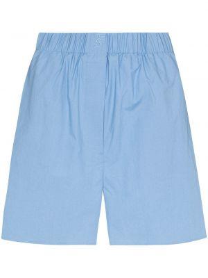 Синие шорты с вышивкой Frankie Shop