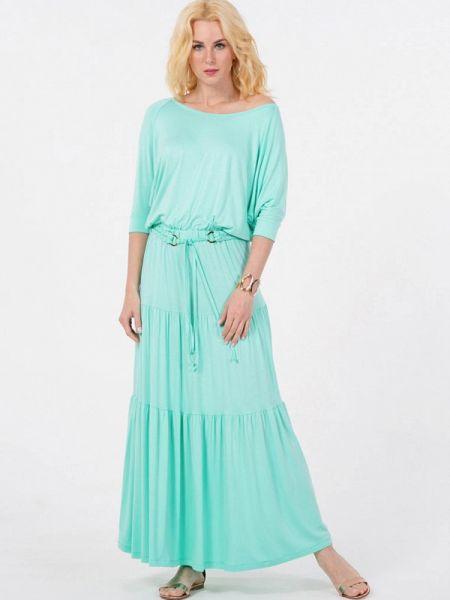 Повседневное бирюзовое повседневное платье Petit Pas