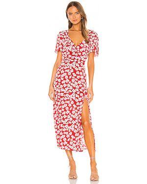 Платье миди розовое на пуговицах Minkpink