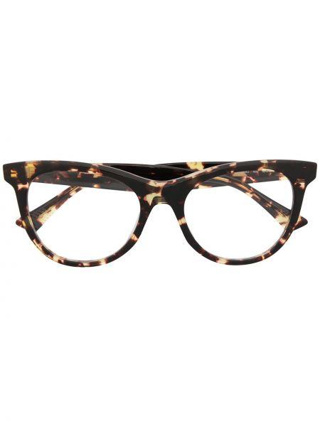 Коричневые очки кошачий глаз прозрачные Bottega Veneta Eyewear
