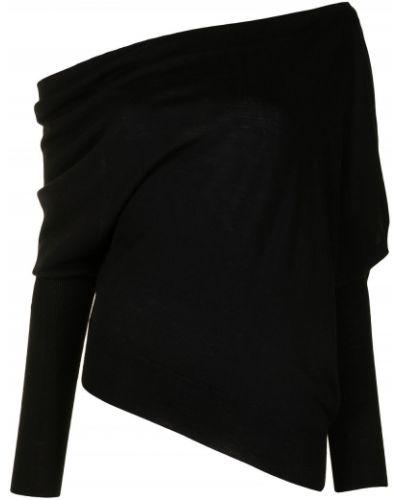 Черный вязаный джемпер с открытыми плечами Altuzarra