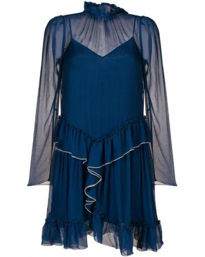 Платье с длинными рукавами с оборками See By Chloé