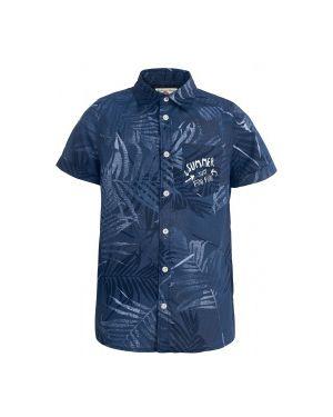 Рубашка с надписью Button Blue