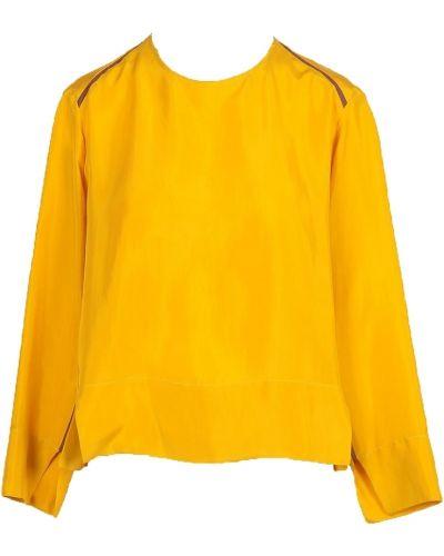Żółta bluzka z długimi rękawami Alysi
