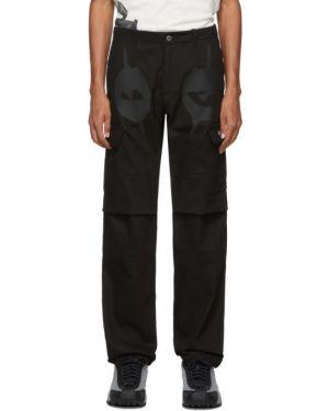 Черные брюки карго с поясом с манжетами для беременных Nasaseasons