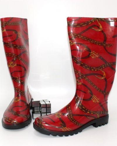Резиновые сапоги - красные Dual