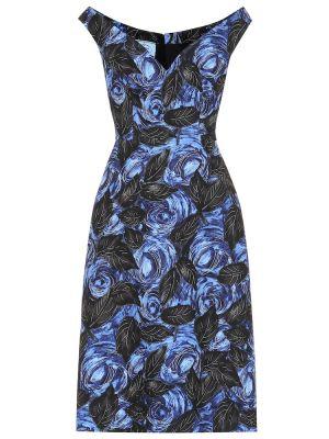 Платье миди - синее Prada