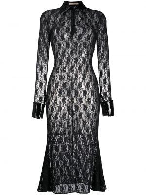 Sukienka koronkowa z długimi rękawami - czarna Christopher Kane