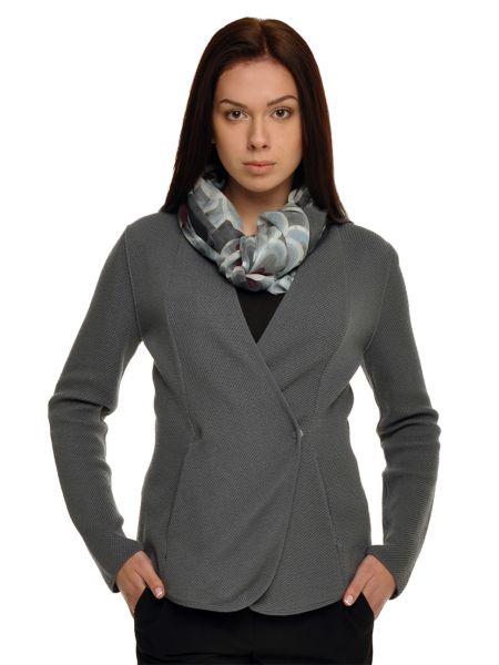 Шерстяной пиджак - серый Armani Collezioni