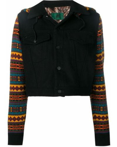 Классический пиджак черный трикотажный Jean Paul Gaultier Vintage