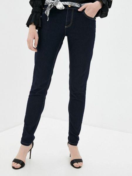 Синие джинсы-скинни с пайетками Cavalli Class