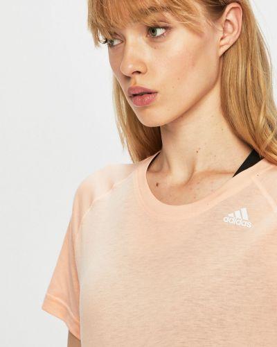 Футболка из вискозы розовый Adidas Performance