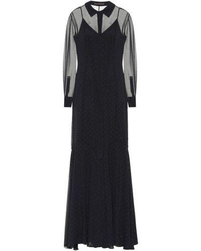 Платье шелковое черное Max Mara