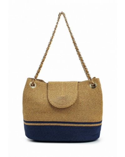 Бежевая пляжная сумка Fabretti