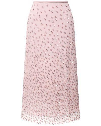 Розовая юбка с подкладкой Escada