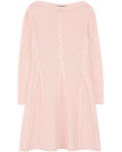 Платье с рукавами розовый расклешенное Loro Piana