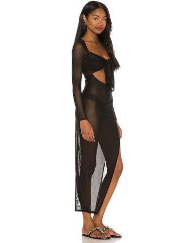 Czarna sukienka z siateczką Lovewave