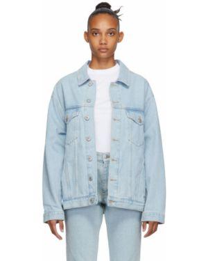 Джинсовая куртка длинная оверсайз Martine Rose