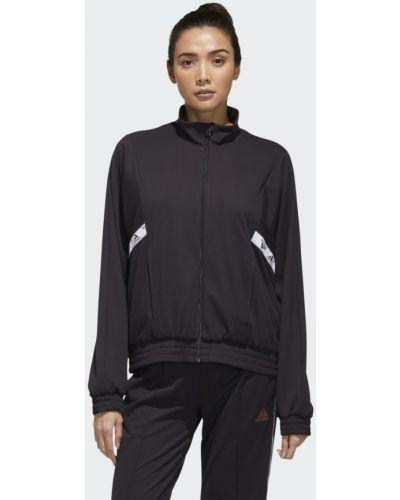 Черная тренировочная олимпийка Adidas