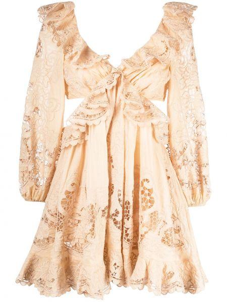 Платье с открытой спиной Zimmermann