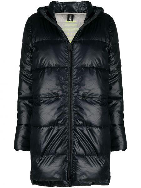 С рукавами черное пуховое стеганое пальто с карманами Ecoalf