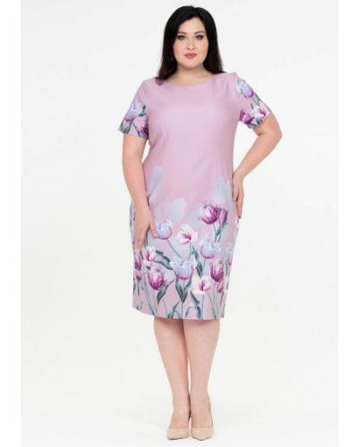 Повседневное платье весеннее розовое Intikoma