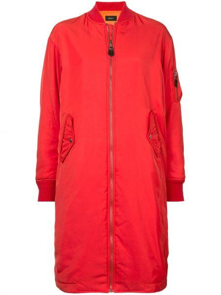 Красная нейлоновая длинная куртка на молнии G.v.g.v.