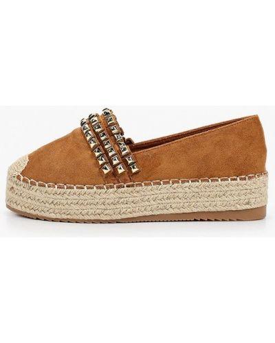 Текстильные коричневые эспадрильи Ideal Shoes
