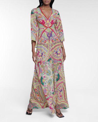 Шелковое платье макси Etro