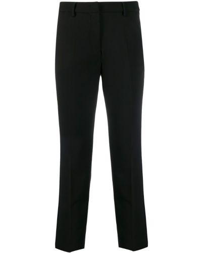 Черные укороченные брюки с поясом Weekend Max Mara