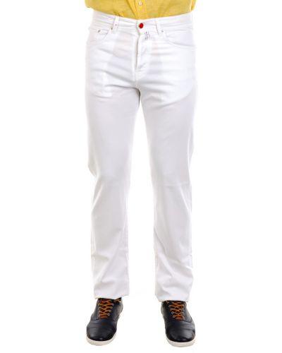 Хлопковые брюки - белые Kiton