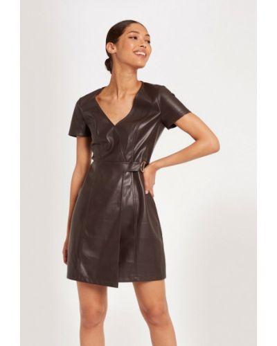 Кожаное черное платье Morgan