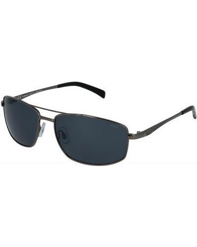 Солнцезащитные очки металлические - черные Invu