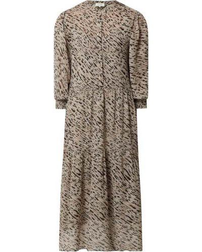 Beżowa sukienka z szyfonu Levete Room