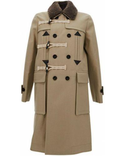 Beżowy płaszcz Sacai