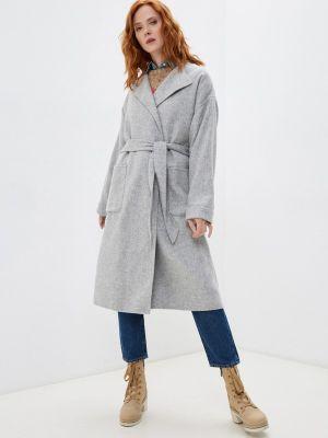 Серое пальто осеннее Polo Ralph Lauren