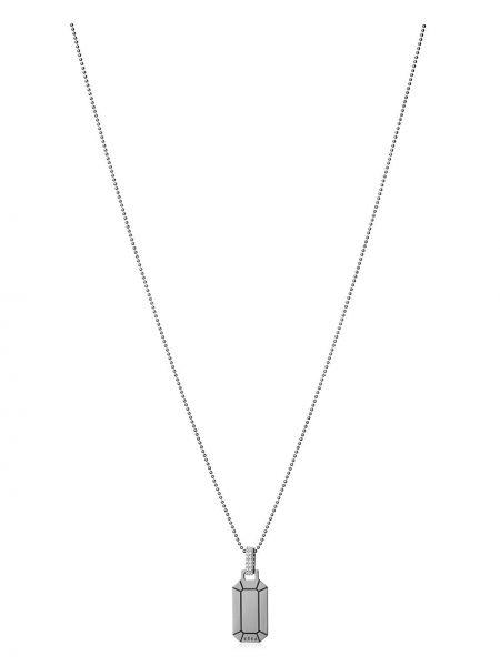 Biały złoty naszyjnik łańcuch z diamentem Eera