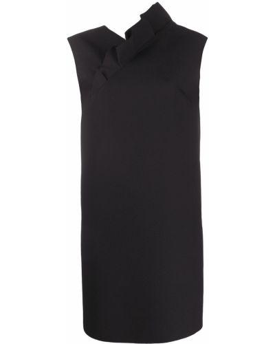 Платье с V-образным вырезом - черное Msgm
