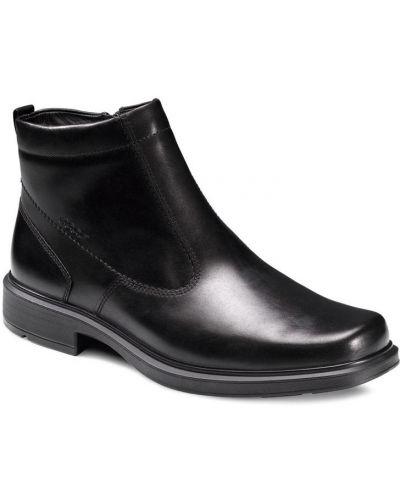 Зимние ботинки кожаные на молнии Ecco