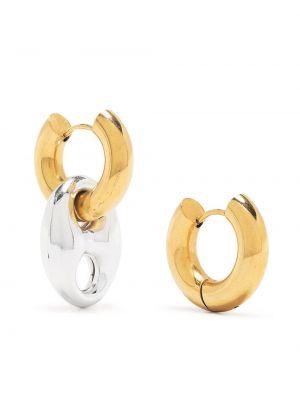 Золотистые серьги-гвоздики золотые Timeless Pearly