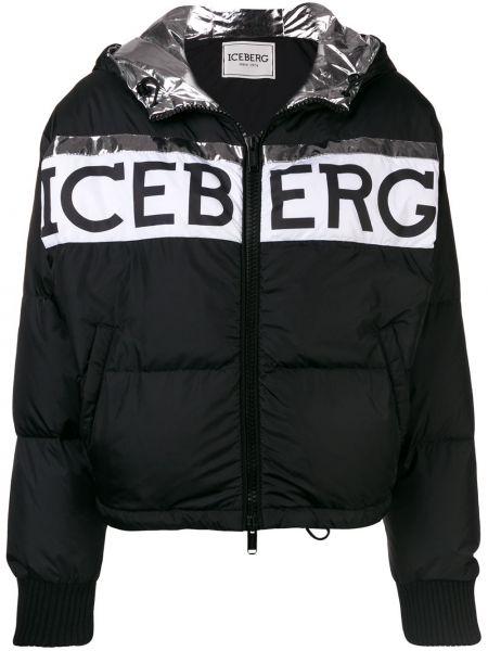 Куртка черная леопардовая Iceberg
