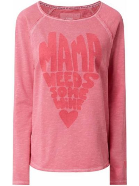 Bluza z nadrukiem z printem - różowa Lieblingsstück