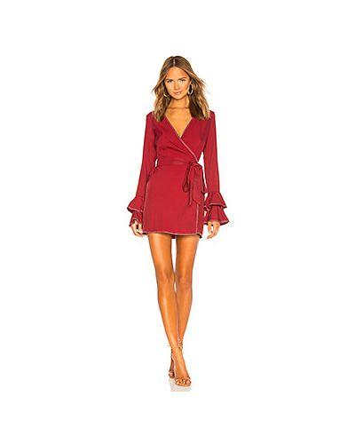 Платье мини бордовый с запахом Tularosa