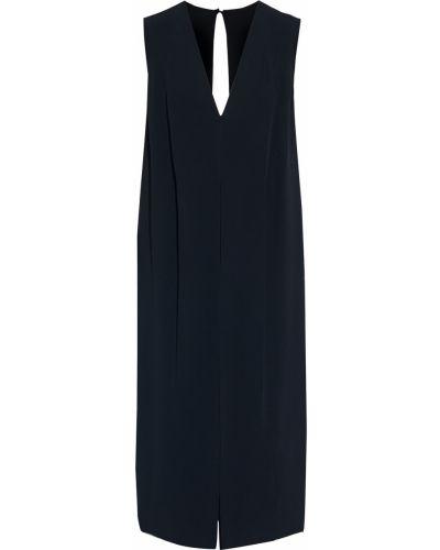 Открытое черное платье миди с открытой спиной Victoria Beckham