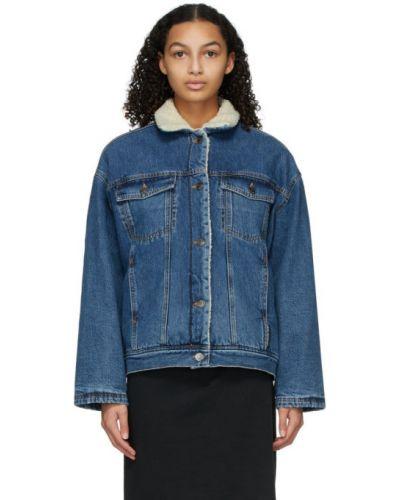 С рукавами ватная черная джинсовая куртка Won Hundred