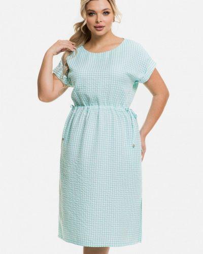 Повседневное бирюзовое платье Venusita