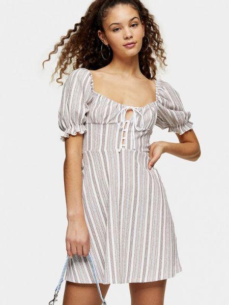 Платье прямое бежевое Topshop